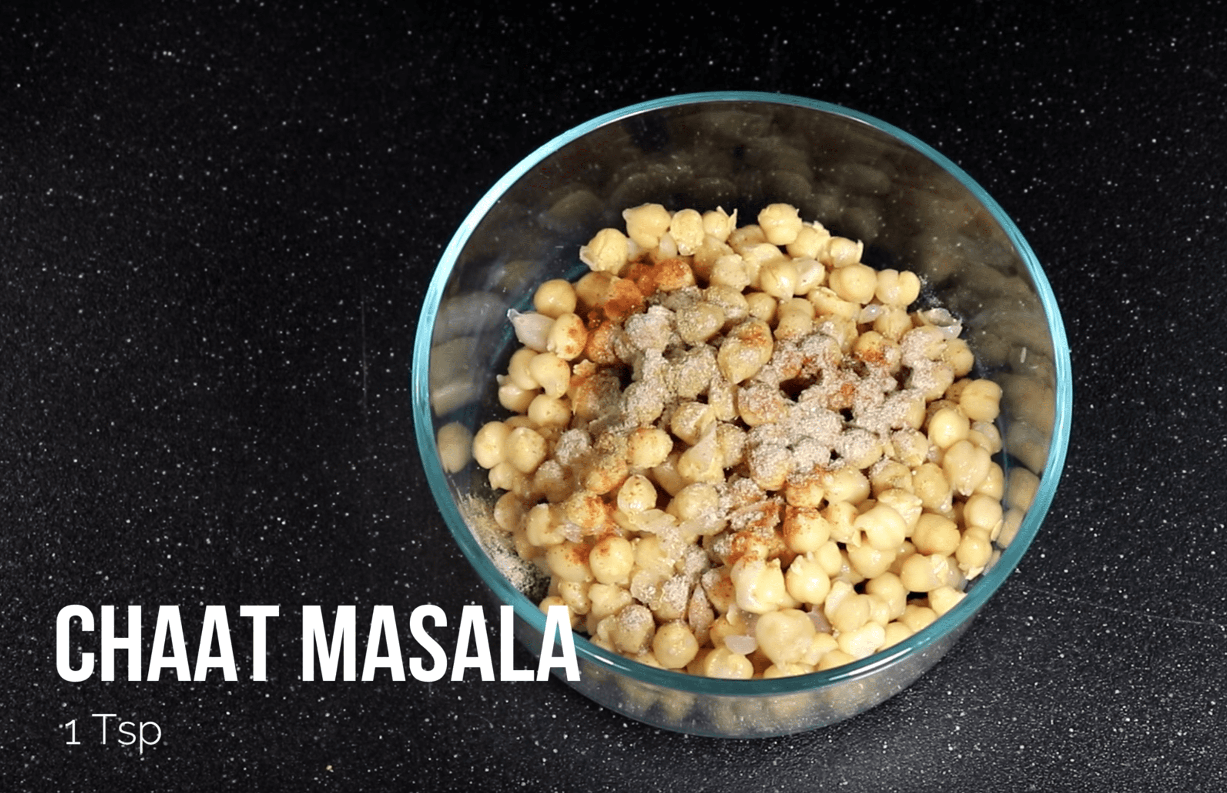 Add 1 TSP Chaat Masala For Chana Chaat Chickpea Recipe
