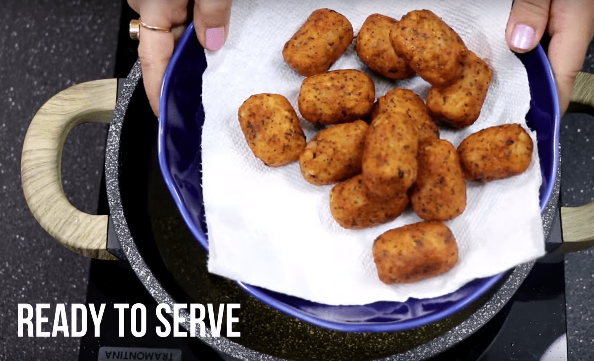 Ready to serve the perfect tater tots