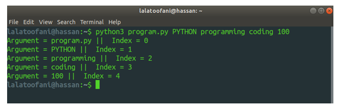 passing values in python paayi